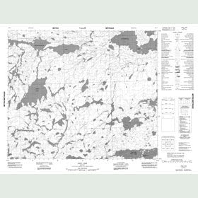 Canadian Topo Map - Joint Lake - Map 053L06