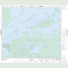 Canadian Topo Map - Gods Lake - Map 053L09