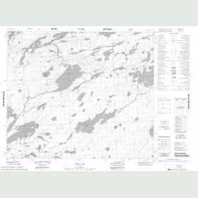 Canadian Topo Map - Windy Lake - Map 053L12