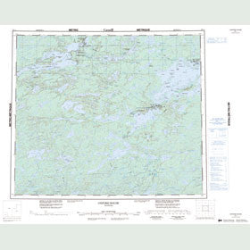 Canadian Topo Map - Oxford House - Map 053L