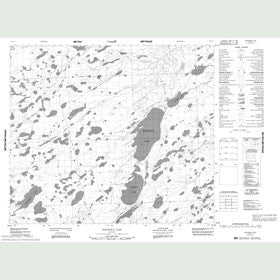 Canadian Topo Map - Whitemud Lake - Map 053M03