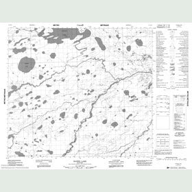Canadian Topo Map - Hawes Lake - Map 053M15