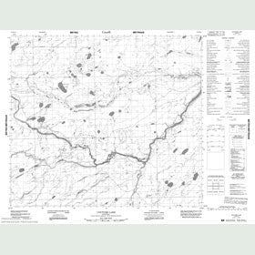 Canadian Topo Map - Couture Lake - Map 053M16