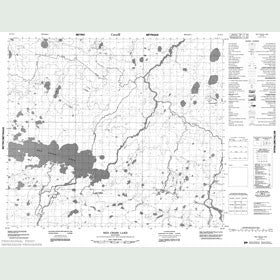 Canadian Topo Map - Red Cross Lake - Map 053N02