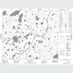 Canadian Topo Map - Semmens River - Map 053N04