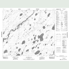 Canadian Topo Map - Oskatukaw Lake - Map 053N05