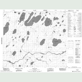 Canadian Topo Map - Patch Lake - Map 053N06