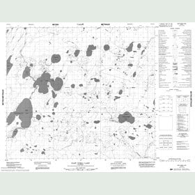 Canadian Topo Map - East Niska Lake - Map 053N10