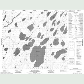 Canadian Topo Map - Michiskan Lake - Map 053N11