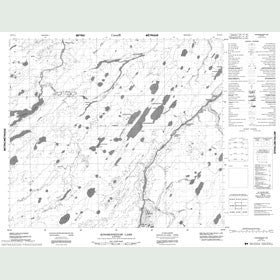 Canadian Topo Map - Kinosewkenaw Lake - Map 053N12