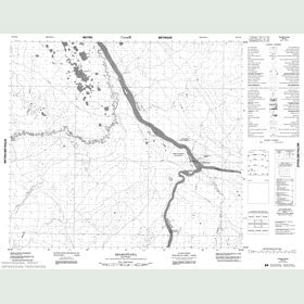 Canadian Topo Map - Shamattawa - Map 053N16