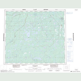 Canadian Topo Map - Gods River - Map 053N