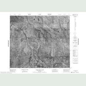 Canadian Topo Map - Pasquatchai River - Map 053O03