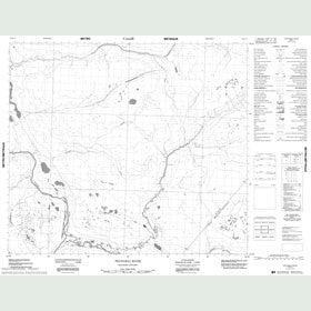 Canadian Topo Map - Pechabau River - Map 053O11