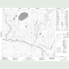 Canadian Topo Map - Peckinow River - Map 053O13