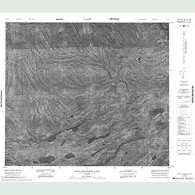Canadian Topo Map - Many Branches Lake - Map 053P03