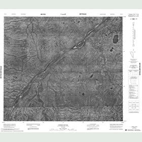 Canadian Topo Map - Usiske River - Map 053P08