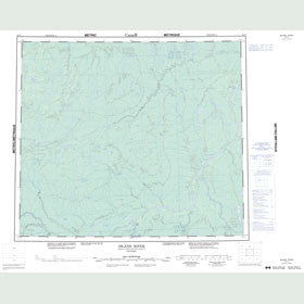 Canadian Topo Map - Island River - Map 053P