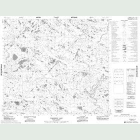 Canadian Topo Map - Commission Lake - Map 054A05