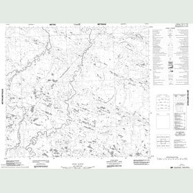 Canadian Topo Map - Map 054A11