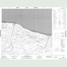 Canadian Topo Map - Milk Creek - Map 054A14