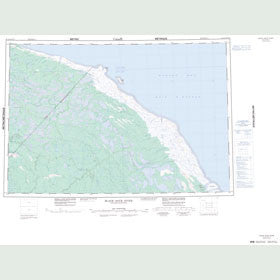 Canadian Topo Map - Black Duck River - Map 054A