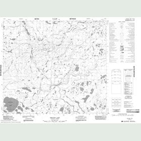 Canadian Topo Map - Spector Lake - Map 054B01