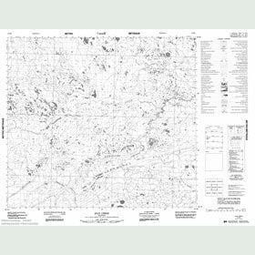 Canadian Topo Map - Kiln Creek - Map 054B06