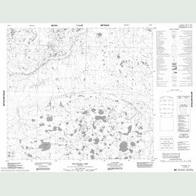 Canadian Topo Map - Bouchard Lake - Map 054B07