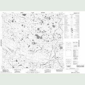 Canadian Topo Map - Forsberg Lake - Map 054B08