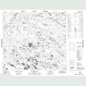 Canadian Topo Map - Neufeld Lake - Map 054B09