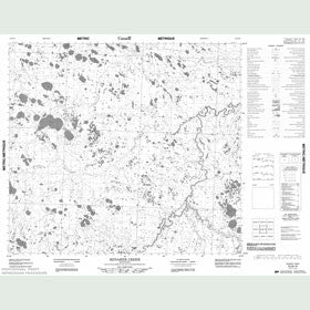 Canadian Topo Map - Minaker Creek - Map 054B10