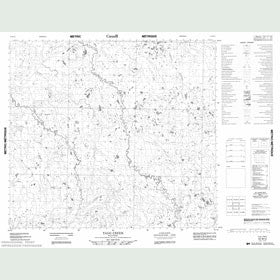 Canadian Topo Map - Tagg Creek - Map 054B12