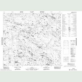 Canadian Topo Map - Map 054B15