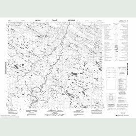 Canadian Topo Map - Comeault Creek - Map 054B16