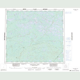 Canadian Topo Map - Kaskattama River - Map 054B