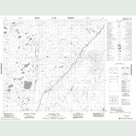 Canadian Topo Map - Bastable Lake - Map 054C06