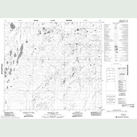 Canadian Topo Map - Robidoux Lake - Map 054C08
