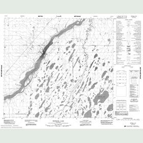 Canadian Topo Map - Merrick Lake - Map 054C12