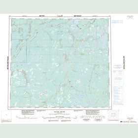 Canadian Topo Map - Hayes River - Map 054C