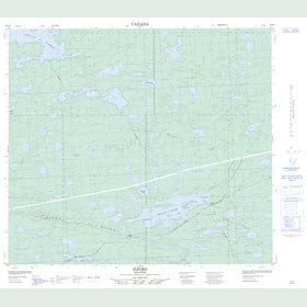 Canadian Topo Map - Ilford - Map 054D04