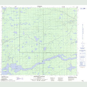 Canadian Topo Map - Clark Lake - Map 054D05
