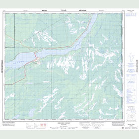 Canadian Topo Map - Brooks Creek - Map 054D08