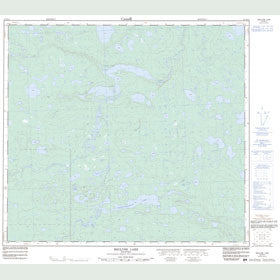 Canadian Topo Map - Recluse Lake - Map 054D13