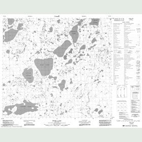 Canadian Topo Map - Myre Lake - Map 054D15