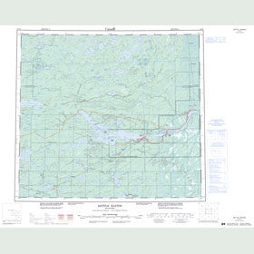 Canadian Topo Map - Kettle Rapids - Map 054D