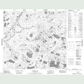 Canadian Topo Map - Whiting Lake - Map 054E03
