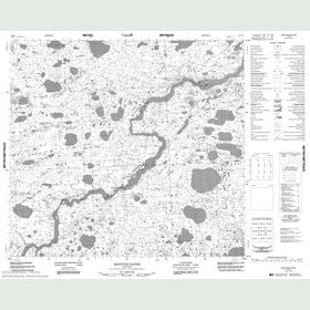 Canadian Topo Map - Mountain Rapids - Map 054E05