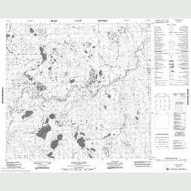 Canadian Topo Map - Turcotte Lake - Map 054E10