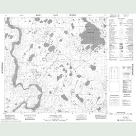 Canadian Topo Map - Bradshaw Lake - Map 054E11